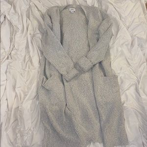 Old Navy Duster Grey Sweater Cardigan
